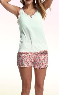 freya cindyshorts and vest top small