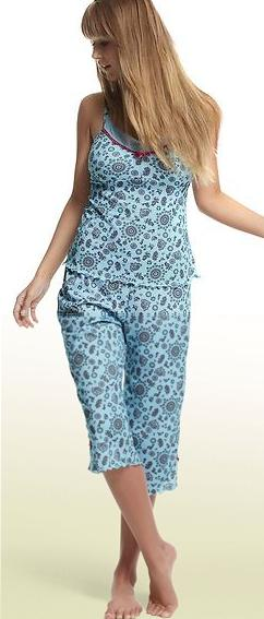 freya edith pyjama set aqua